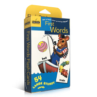 英文原版 First Words 54张单词字卡盒装 Golden Books 兰登出品 0-3-6岁幼儿启蒙认知早教词卡 亲子互动