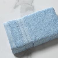 富安娜家纺 印度进口全棉缎档浴巾 纯棉亲肤进口家用浴巾