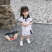 夏装童装女童运动裙子女宝宝公主裙儿童短袖小童半身裙