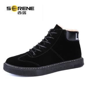 西瑞运动休闲板鞋男加绒保暖棉鞋时尚百搭高帮男鞋子ZC1280