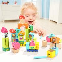 一两岁宝宝穿线儿童串珠玩具女孩穿珠子积木玩具1-2周岁3男孩