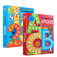 英文原版 My Awesome Alphabet Counting Book 123 ABC 数学和英语字母启蒙书籍2