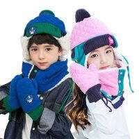 KK树儿童帽子冬宝宝帽子秋冬男女童韩版小孩加绒护耳雷锋帽潮
