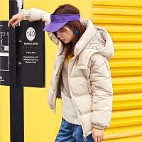 【3折到手价:312】【满399减80】短款羽绒服女新款冬季韩版宽松学生白鸭绒少女小个子外套女装