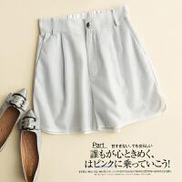 闪闪亮丽设计高腰短裤 休闲裤热裤女夏季外穿 D0/5/59