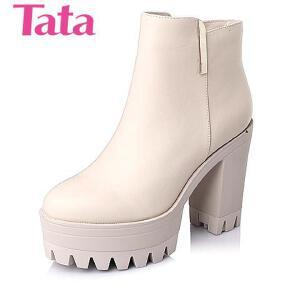 Tata/他她 年专柜同款牛皮女靴2H742DD5