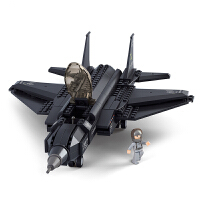 战斗飞机积木仿真模型拼装男孩玩具8大型10航模适合6岁孩子的玩具儿童节礼物 F35闪电战斗机(252片) 现货现发