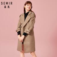 森马毛呢外套女冬季韩版森系中长款大衣学生流行冬装