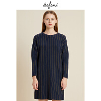 伊芙丽2018冬装新款韩版时尚女装连衣裙1188994671