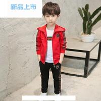 童装男童春装套装2018新款中大儿童秋季运动卫衣小孩三件套韩版潮
