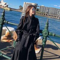 中长款风衣女2018秋季小个子显高显瘦韩版新款不规则休闲大衣外套