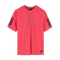 adidas/阿迪达斯女款舒适透气简约圆领运动休闲短袖T恤DU0012