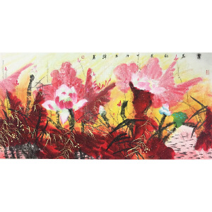 韩墨《翠盖红妆》著名画家