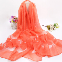 丝巾秋季百搭新款纱巾多功能冬季保暖围巾女长款披肩春季