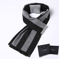韩版围巾男冬季学生加厚保暖围脖潮流礼盒装百搭简约男士围巾