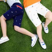 【每满200减100】 男童短裤夏装2018新款韩版裤子外穿儿童中大童运动休闲五分裤童装