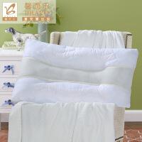 【暑期清凉季 爆款直降】富安娜出品 馨而乐清爽透气纤维软枕芯纯棉提花面料枕芯74*48cm一个