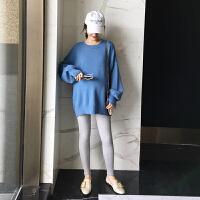 孕妇秋装毛衣2018中长款秋冬打底针织衫潮妈长袖上衣宽松
