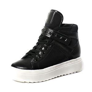 Teenmix/天美意专柜同款牛皮/纺织品女休闲靴6T240DD6