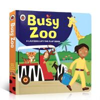 英文原版 Ladybird lift-the-flap book: Busy Zoo 幼儿翻翻书绘本忙碌的动物园图画故