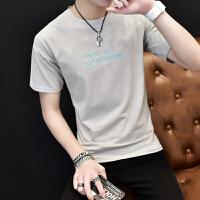 慈姑2018夏季新款男士短袖t恤韩版潮流V领半袖青少年修身个性男装衣服