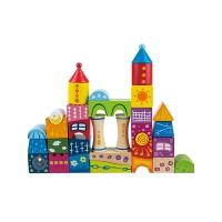 儿童童话城堡大颗粒木头积木宝宝1-2-3-6周岁可啃咬玩具
