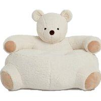 小熊儿童沙发 动物毛绒玩偶宝宝家居 懒人坐垫节日礼物 白色