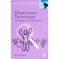 【预订】Observation Techniques: Structured to Unstructured
