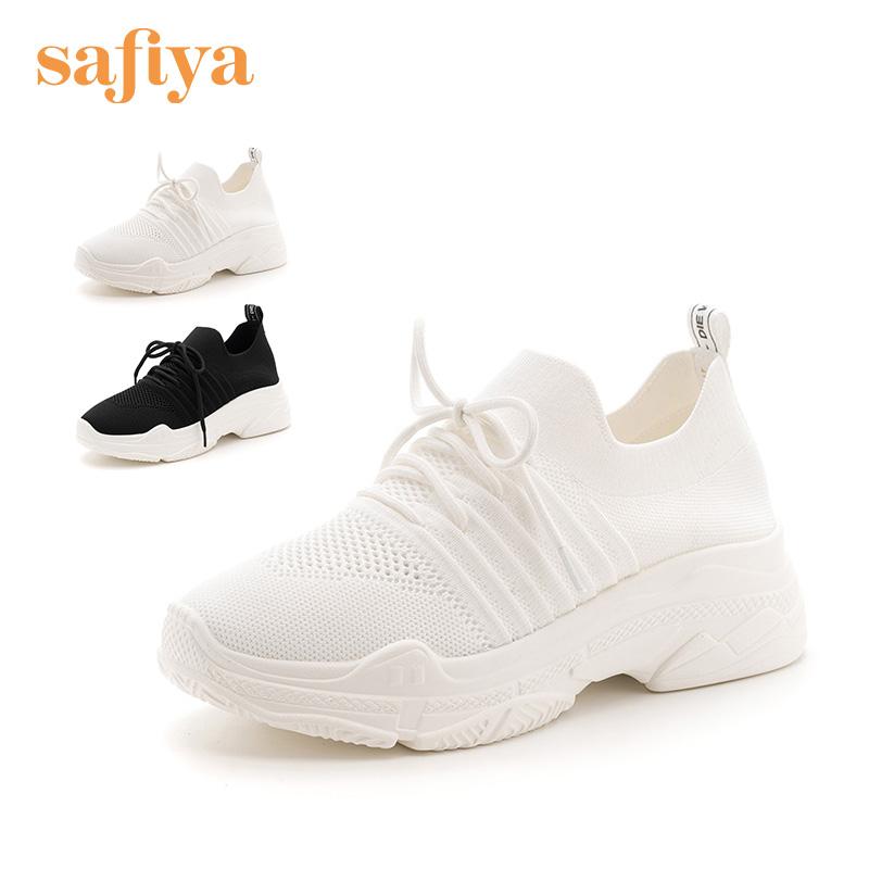 索菲娅(Safiya)2018年秋季新品织物圆头舒适休闲运动鞋SF83112003