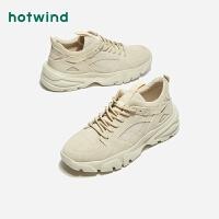 热风学院风男士系带休闲鞋中跟圆头户外鞋H42M9128