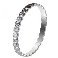梦克拉 18K金戒指 缘来爱 简约时尚女款百搭白金戒指 可礼品卡购买