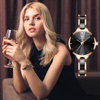 手表女学生学院风复古简约陶瓷女表法国小众手表小清新