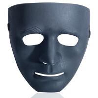 20180527033637963儿童节面具儿童全脸舞会步舞街舞男女白色鬼脸恐怖舞客手绘