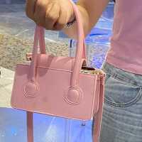 小众女包极简迷你粉色小方包2021新洋气质感小包包手提斜跨包潮