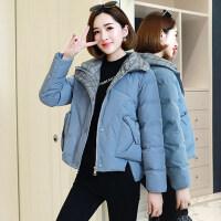女短款小棉袄冬装韩版宽松小个子轻薄羽绒棉衣外套潮