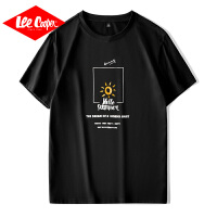 Lee Cooper2020年春夏季新款男士短袖T恤打底衫字母印花青年男式t恤