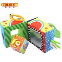 新款婴儿积木布制新生儿益智玩具 摇铃响纸哈哈镜多功能婴儿玩具