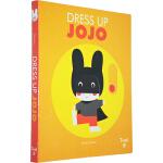 英文原版绘本 小兔子Jojo的变装 Dress Up Jojo 纸板玩具游戏书 推拉滑动机关操作书 5-6岁 Twir