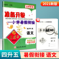 孟建平准备升级暑假衔接四升五语文部编人教版四年级暑假作业