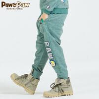 【3件2折 到手价:60】Pawinpaw宝英宝小熊童装春季款男童拼色休闲卫裤
