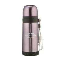 吊带保温杯 子弹头直身保温水壶不锈钢子弹头水壶旅游便携水杯学生杯350ML 淡紫色