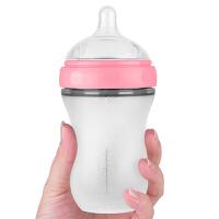奶瓶断奶仿母乳 婴儿硅胶奶瓶全软宝宝宽口径