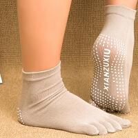 女士瑜伽五指袜瑜珈袜防滑袜露趾露指袜薄款纯棉运动袜子