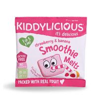 英国童之味kiddylicious 草莓香蕉水果溶溶豆宝宝零食婴幼儿溶豆6g