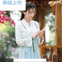 汉服女古装襦裙学生改良版复古中国风长裙清新淡雅礼服