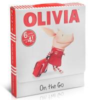 英文原版绘本OLIVIA On the Go 奥莉薇故事图画书6册童书幼儿启蒙认知故事书 课后英语趣味读物