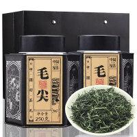 春茶毛尖茶嫩芽茶叶绿茶散装小罐装礼盒