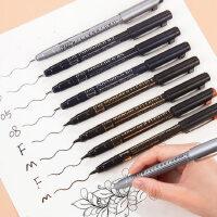 日本吴竹kuretake针管笔黑色棕色灰色防水勾线笔手绘漫画专用笔绘图笔简笔画笔漫画描边描线动漫设计勾边笔