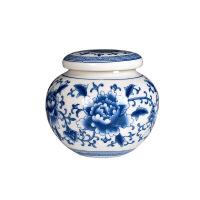 普洱密封罐 毛尖绿茶春茶罐包装 青花瓷茶叶罐陶瓷茶罐茶具