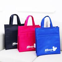 新款韩版卡通书袋美术包 小学生防水帆布补课包手提袋补习袋学生饭盒袋包邮